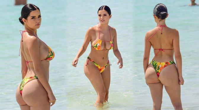 Demi Rose Mawby – Bikini Candids in Ibiza