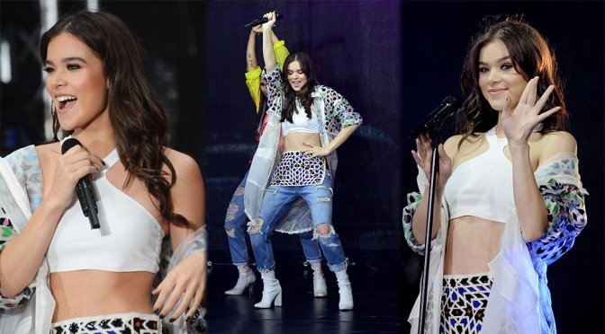 Hailee Steinfeld Performs Live in New York