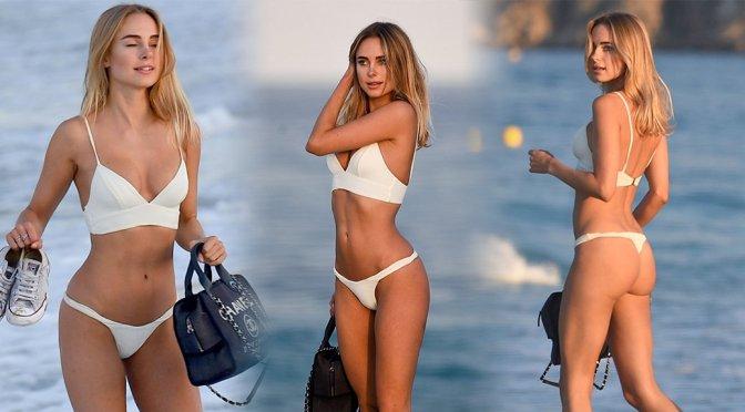 Kimberley Garner – Bikini Candids in St. Tropez