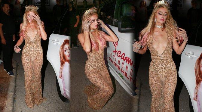 Paris Hilton – See-Through Candids in Ibiza