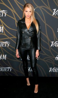Charlotte Mckinney Sexy Leather