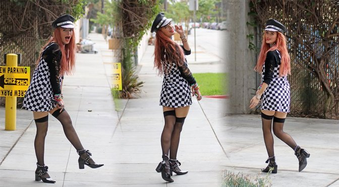 Bella Thorne – Leggy Candids in Hollywood