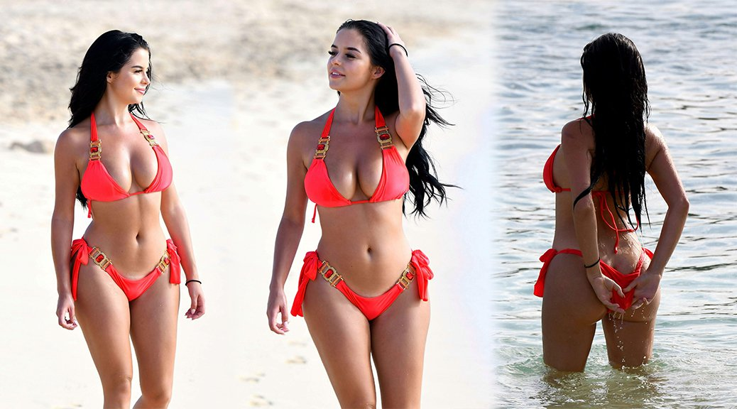 Demi Rose Mawby - Bikini Candids in Cape Verde