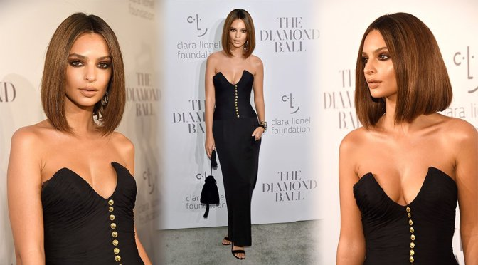 Emily Ratajkowski – Rihanna's 3rd Annual Clara Lionel Foundation Diamond Ball