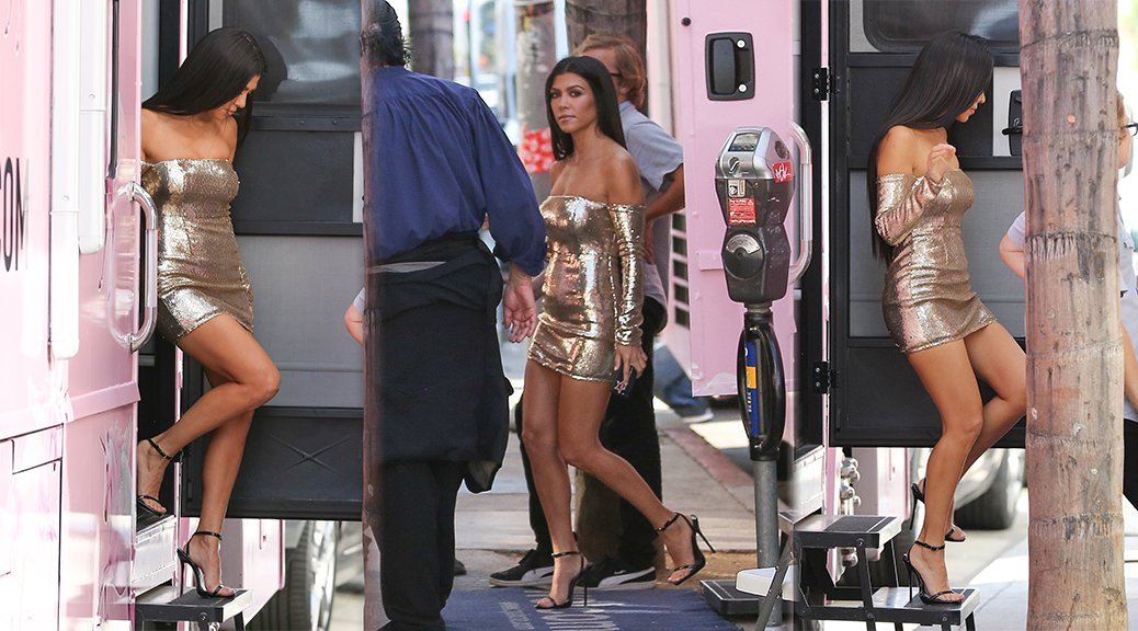"Kourtney Kardashian - ""Pretty Little Thing"" Photoshoot Candids"