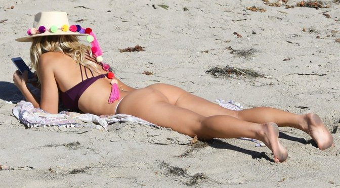 Ashley Hart – Bikini Candids in Malibu