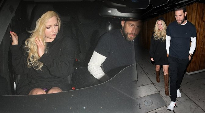 Avril Lavigne – Upskirt Candids in West Hollywood