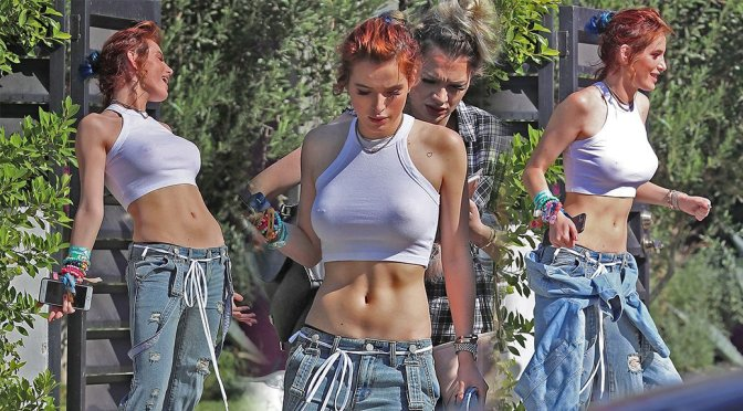 Bella Thorne – Braless Candids in Los Angeles