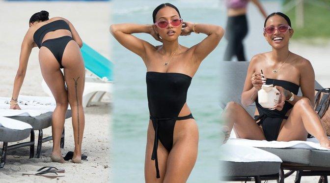 Karrueche Tran – Swimsuit Candids in Miami