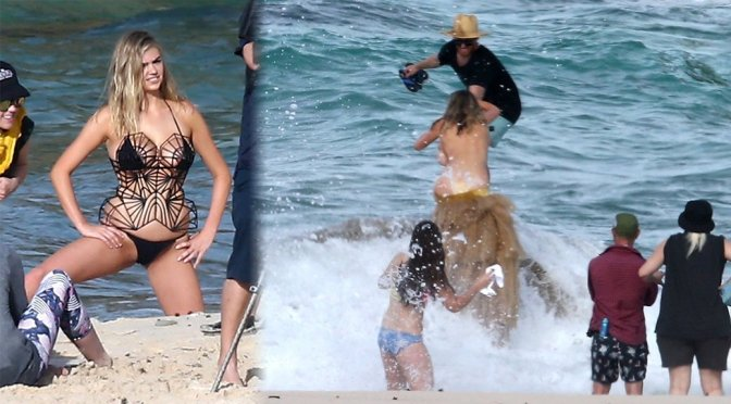 Kate Upton – SI Swimsuit Issue Bikini Photoshoot Candids in Aruba