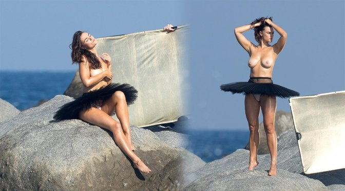 Myla Dalbesio – SI Swimsuit Topless Photoshoot Candids (NSFW)