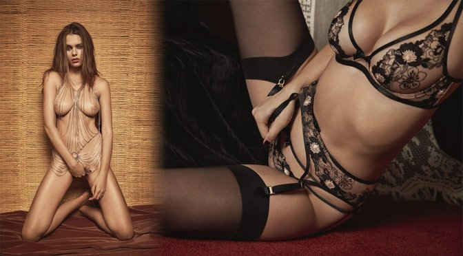 Solveig Mork Hansen – Agent Provocateur Fall-Winter 2017 Naked Photoshoot