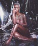 Kim Kardashian Naked Glitter