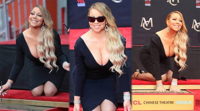 Mariah Carey – Hand and Footprint Ceremony in Los Angeles
