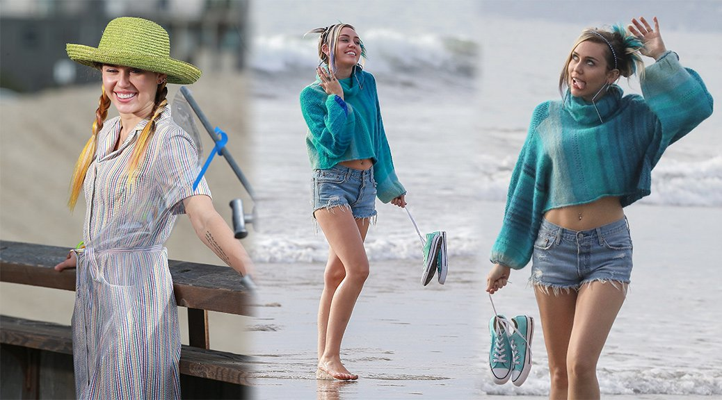Miley Cyrus - Converse Photoshoot Candids in Venice Beach