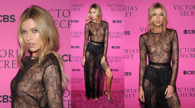 Stella Maxwell – 2017 Victoria's Secret Fashion Show Viewing Party