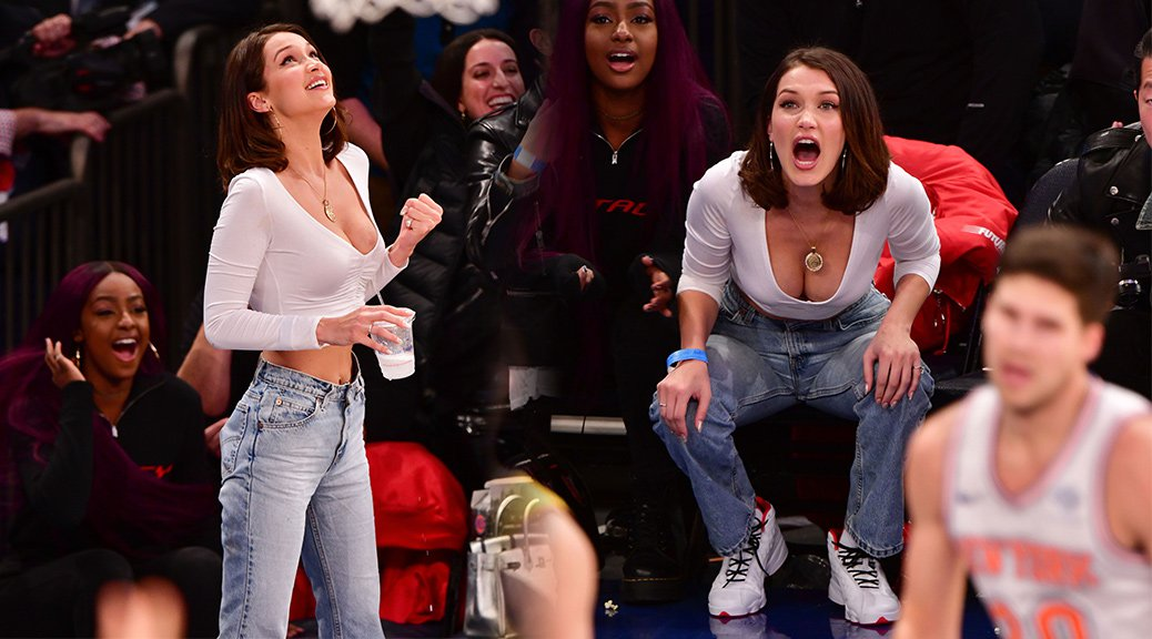 Bella Hadid - Cleavage Candids in New York
