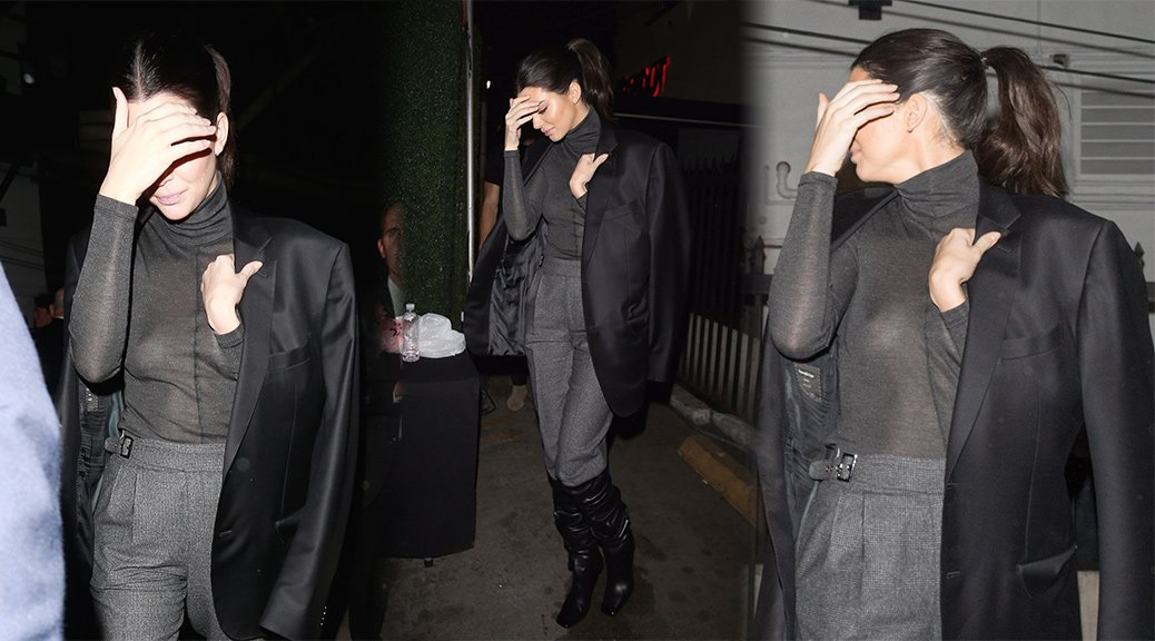 Kendall Jenner - Braless See-Through Candids in West Hollywood