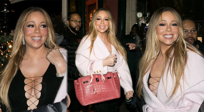 Mariah Carey – Nipslip Candids in Paris