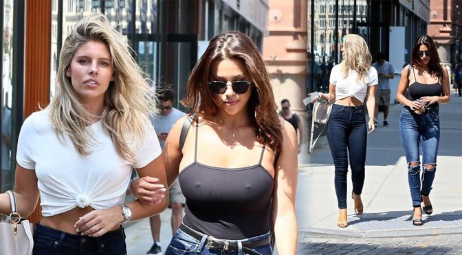 Natasha Oakley and Devin Brugman – Braless Candids in New York