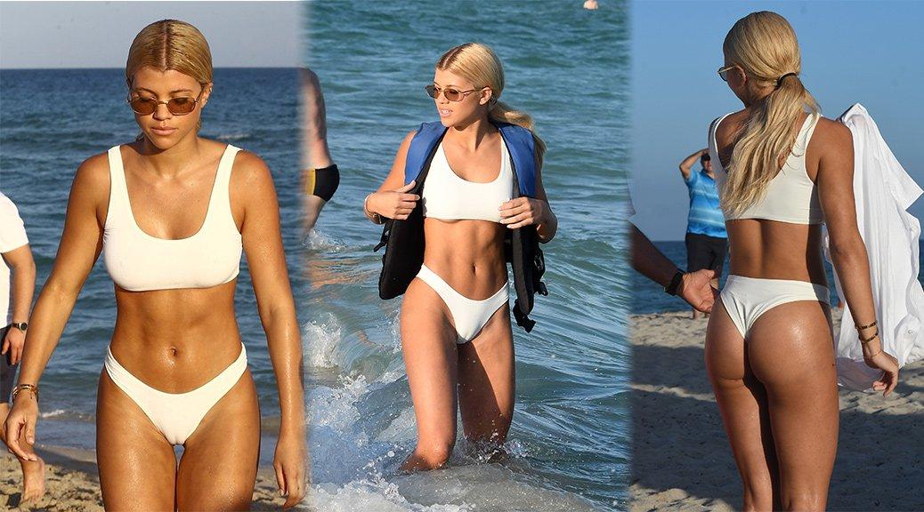 Sofia Richie - Bikini Candids in Miami