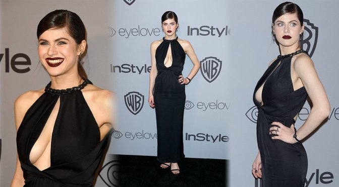 Alexandra Daddario – InStyle & Warner Bros Golden Globes After Party