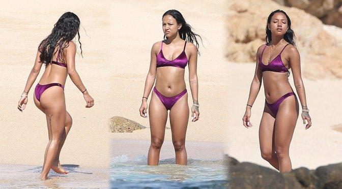 Karrueche Tran – Bikini Candids in Cabo