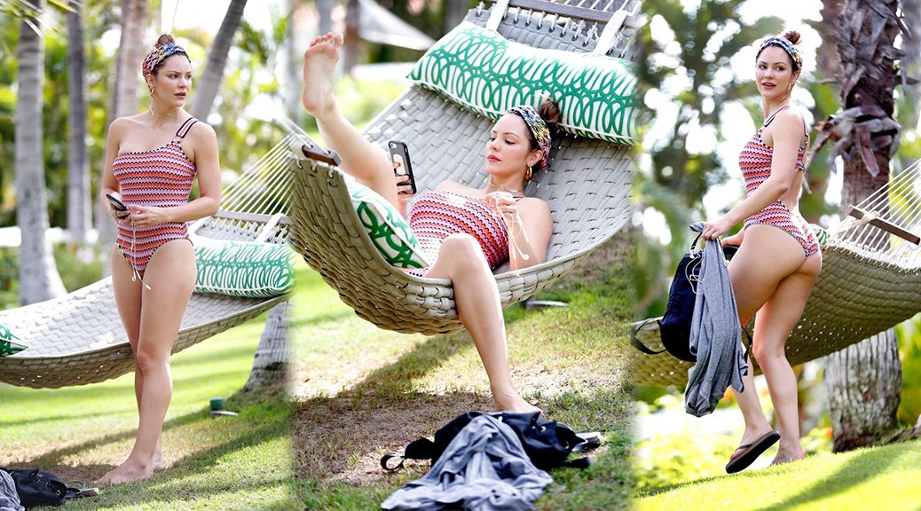 Katharine McPhee - Swimsuit Candids in Hawaii
