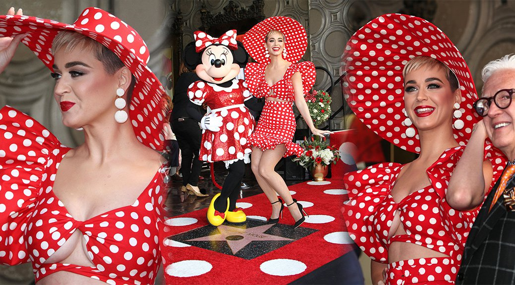 Katy Perry - Minnie Mouse Hollywood Walk of Fame Ceremony