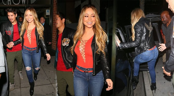 Mariah Carey – Braless Candids in Beverly Hills