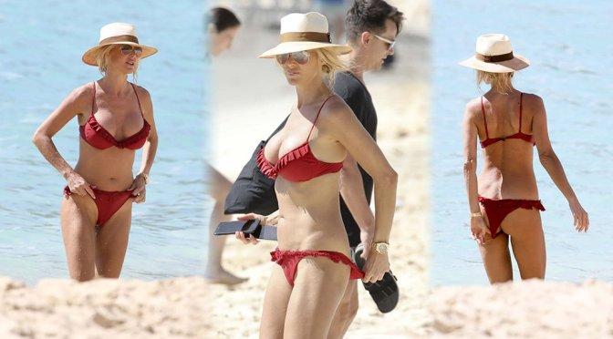 Victoria Silvstedt – Bikini Candids in St. Barts