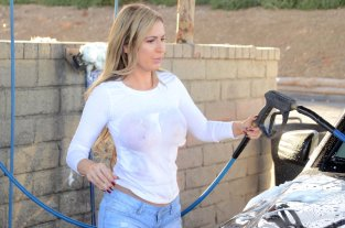 Ana Braga Wet T Shirt Photoshoot