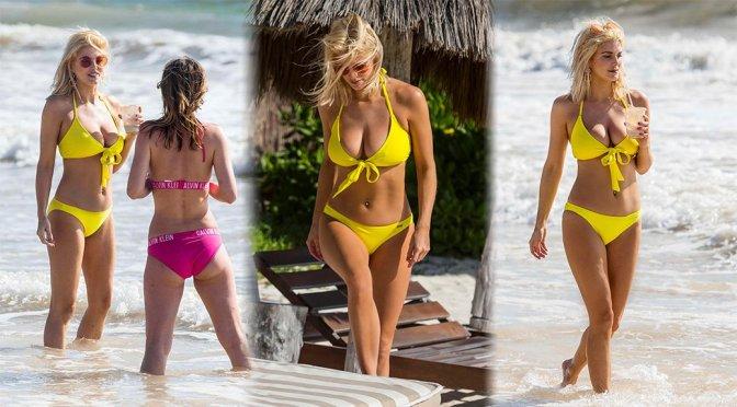 Ashley James – Bikini Candids in Tulum