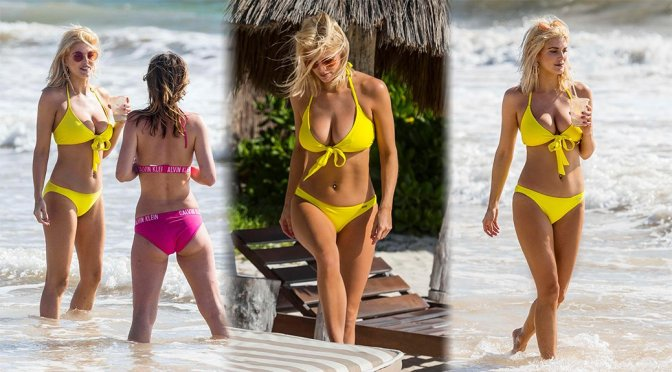 Ashley James – Bikini Candids in Tulum