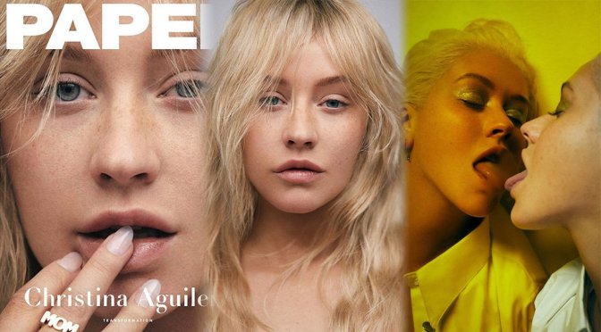 Christina Aguilera Natural Look For Paper Magazine