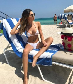 Jasmine Toosh White Bikini