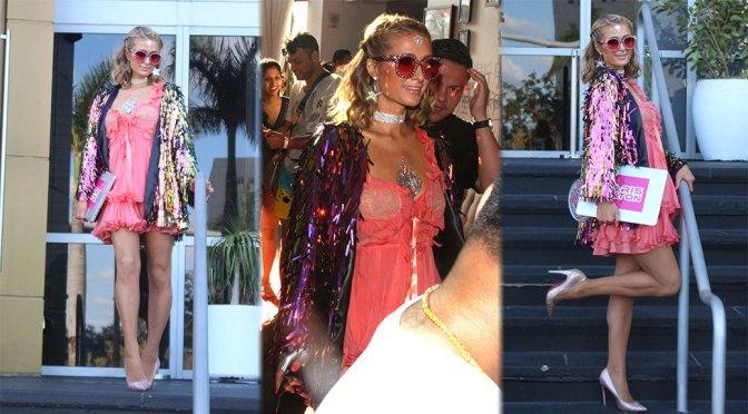 Paris Hilton – Leggy Candids in Miami