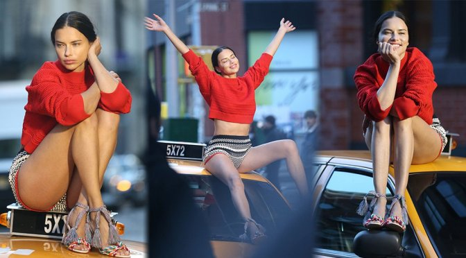 Adriana Lima – Photoshoot Candids in New York
