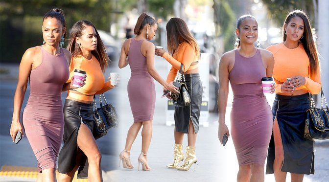 Christina Milian – Braless Candids in West Hollywood