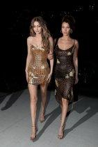 Gigi Hadid Sexy Gold Dress