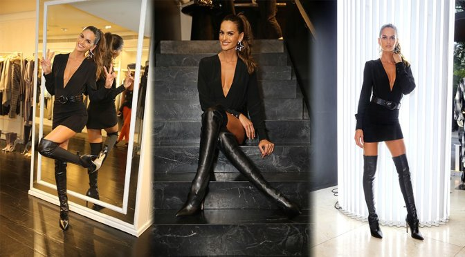 Izabel Goulart at Blanc Store in Sao Paulo