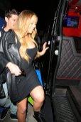 Mariah Carey Boobs In Black Dress
