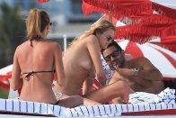 Toni Garrn Topless Bikini