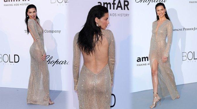 Adriana Lima – amfAR's 25th Cinema Against AIDS Gala in Cannes