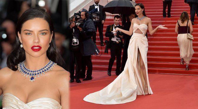 """Adriana Lima – """"Burning"""" Premiere in Cannes"""