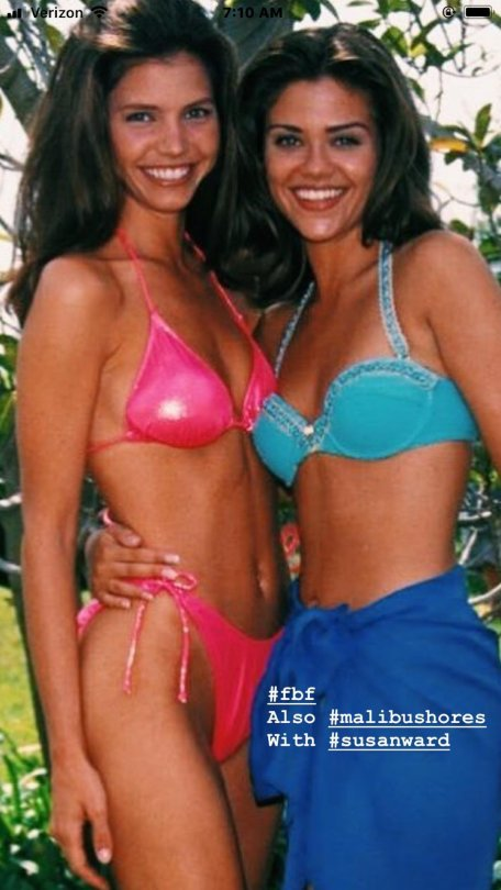 Charisma Carpenter And Susan Ward In Bikinis