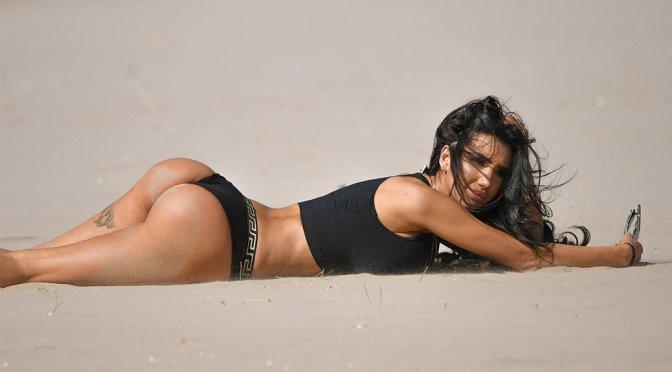 Chloe Khan – Bikini Candids in Dubai