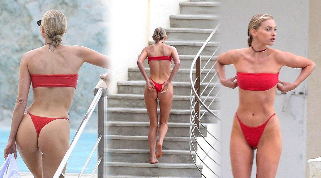 Elsa Hosk - Bikini Candids in Antibes