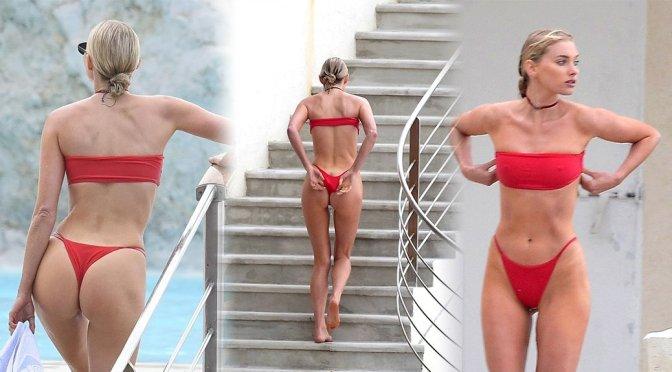 Elsa Hosk – Bikini Candids in Antibes