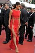 Irina Shayk Pantyless Red Dress